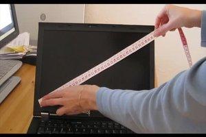 Wieviel Zoll hat mein Laptop - so messen Sie richtig