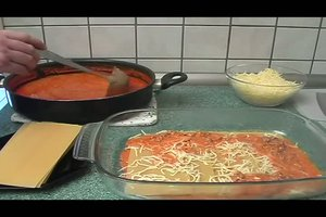 Lasagne mit Hackfleisch - ein Rezept