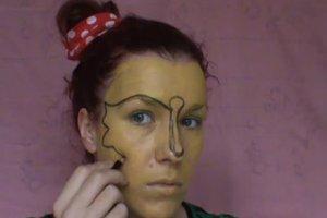 Schminktipps - eine Fledermaus schminken Sie so