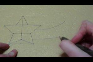 Stern zeichnen - Anleitung für einen Bethlehem-Stern