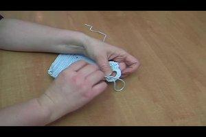 Topflappen - Häkelanleitung für einfache Topflappen mit Rippenmuster