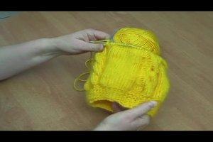 Ballonmützen stricken - so entsteht ein Zopfmuster