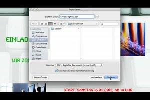 Datei in Open Office als PDF speichern - so geht's