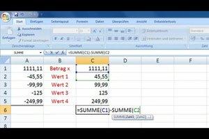 Mit Excel subtrahieren - diese Formel macht's möglich