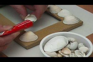 Basteln mit Muscheln - Anleitung für Bilderrahmen