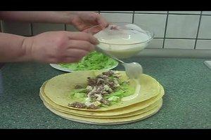 Tortilla-Wraps - Füllung mit Hackfleisch