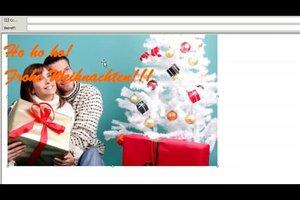 Outlook - Hintergrund zu Weihnachten einstellen