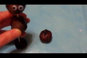 Kastanienmännchen - Anleitung zum Basteln mit Kindern
