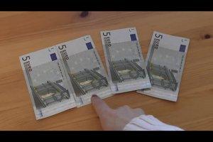 Geldscheine falten - ein Kleeblatt gelingt so