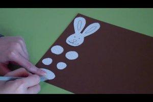 Osterhasen basteln aus Klorollen - so geht es