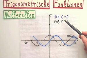 Trigonometrische Funktionen - die Nullstellen berechnen Sie so
