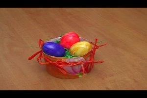 Osternester basteln mit Kindern - eine einfache Idee