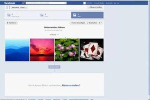 Reihenfolge der Facebook-Fotos im Profil ändern