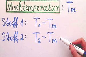 Mischtemperatur von verschiedenen Stoffen berechnen - so geht's
