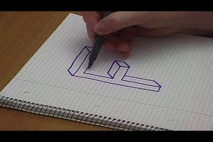 3D-Buchstaben zeichnen - so geht's