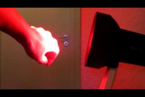 Rotlichtlampe - Anwendung funktioniert so