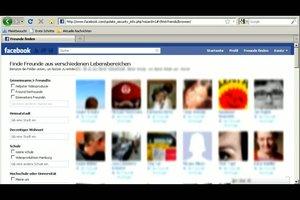 Auf Facebook Freunde suchen - so funktioniert es