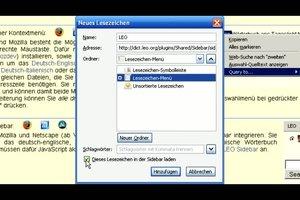 Deutsch-Englisch-Text-Übersetzer LEO - Browser-Integrationsanleitung