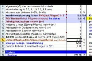 Lohnabrechnung erstellen - so geht´s mit Excel