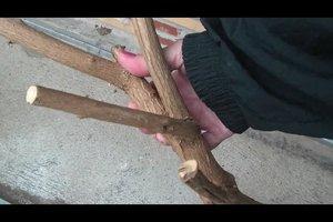 Aus Holz einen Wanderstock selber machen