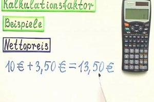 Kalkulationsfaktor berechnen - so gelingt's