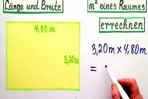 Länge und Breite - so errechnen Sie die m² eines Raumes
