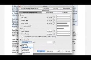 Zeilenabstand verändern bei LibreOffice
