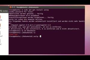 ZIP-Datei entpacken unter Linux - so geht's