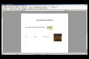Beschreibbares PDF erstellen - so kreieren Sie Formulare selbst