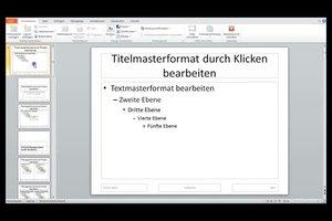 Masterfolie in Powerpoint 2010 erstellen - so geht's