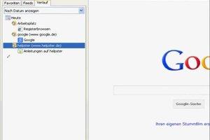 Beim Internet Explorer den Verlauf anzeigen - Anleitung