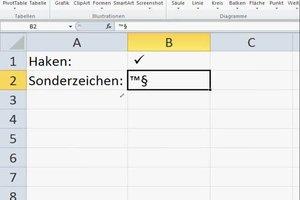 Mit Excel einen Haken und andere Sonderzeichen machen - so gelingt's