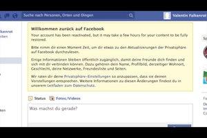 Facebook reaktivieren - so geht's