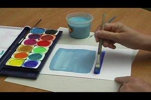 Türkis selber mischen - so geht's mit Wasserfarben