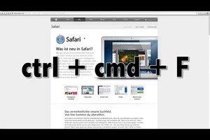 Mac: Vollbild mit einer Tastenkombination erzeugen - so gelingt's
