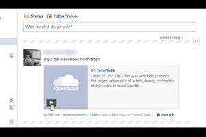 Auf Facebook MP3 hochladen - so geht's
