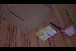 Absender und Empfänger auf Paket korrekt platzieren - Anleitung