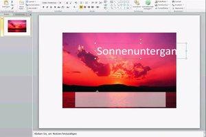 In PowerPoint ein Bild beschriften - so geht's