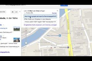 Eine Karte aus Google Maps kopieren – so geht's
