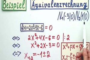 Ganzrationale Funktion - Nullstellen ausrechnen