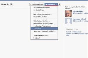 Was heißt archivieren bei Facebook?