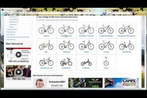 Richtige Fahrradgröße herausfinden - so geht's