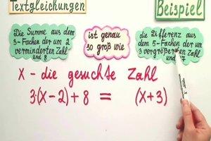 Textgleichungen - Tipps zum Aufstellen der Gleichung aus dem Text
