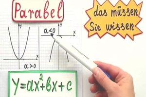 Streckfaktor einer Parabel berechnen - so geht's