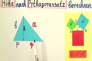 Im Dreieck die Höhe berechnen - die Formel richtig anwenden