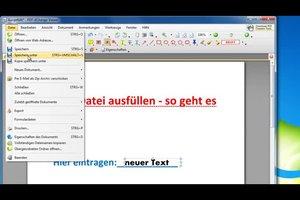 PDF-Datei ausfüllen - so geht es