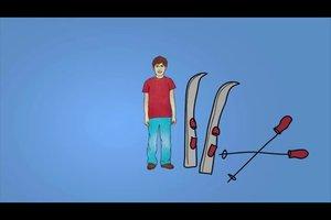 Die richtige Skilänge bei Kindern ausmessen - Anleitung