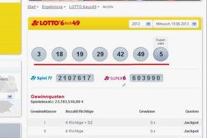 Lottoschein online prüfen - so geht's