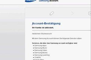 Samsung - Konto anmelden