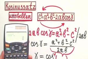 Kosinussatz umstellen - so wird der Winkel berechnet